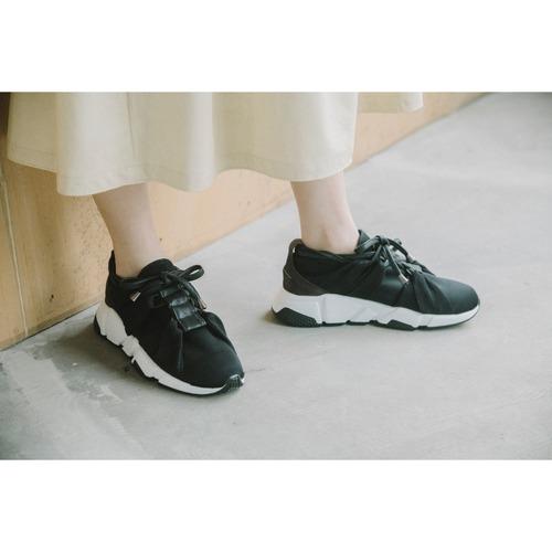 【RehersalL】fake leather ladder sneaker(black) /【リハーズオール】フェイクレザー ラダー スニーカー(ブラック)