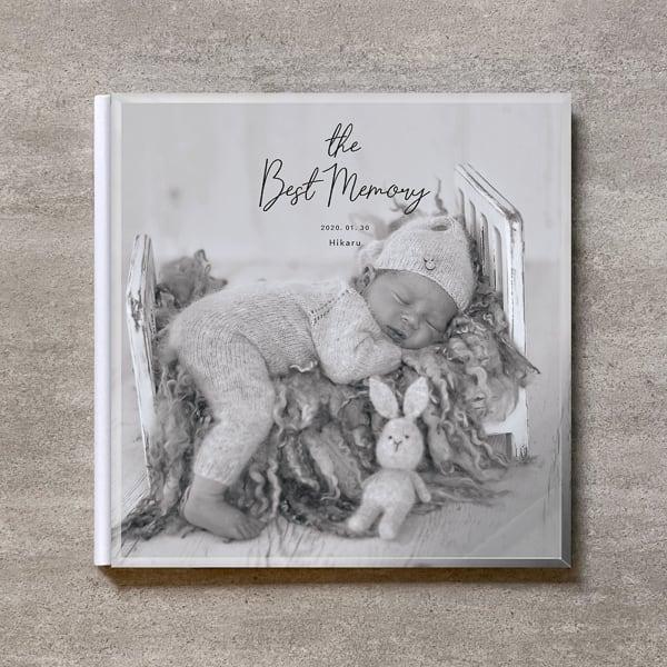 Monochrome-BABY_A4スクエア_10ページ/20カット_クラシックアルバム(アクリルカバー)