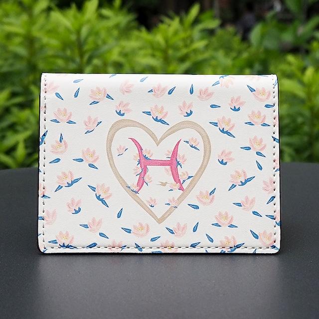 【名入れ可能】イニシャルH 大容量カードケース(名刺入れ ミニ財布)