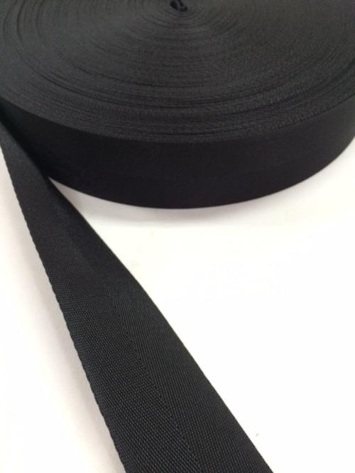 ナイロン 杉綾織(綾テープ) 50mm幅 黒 1m