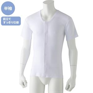 紳士・半袖ワンタッチシャツ(2枚組)