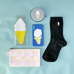 スイーツクリアマルチケース 全2種 ソフトクリーム・クリームソーダ