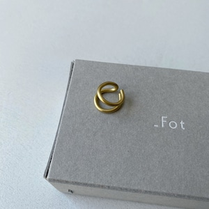 【_Fot】round wire earring_double(Ear cuff)/1103a_d