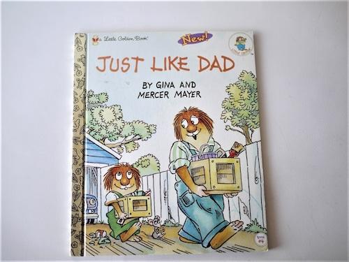 ヴィンテージミニ絵本 JUST LIKE DAD  英語図書