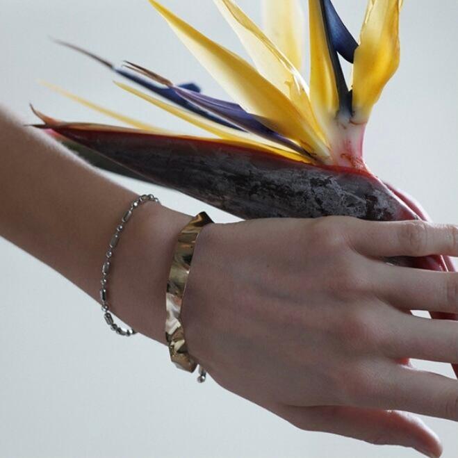 【 sea'ds mara 】bi-color wave bracelet