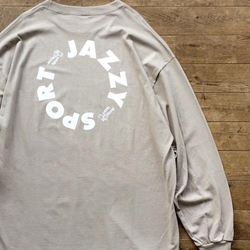 """【残りわずか】JS """"Circle"""" ロゴ ロングスリーブ Tシャツ/サンドカーキ"""