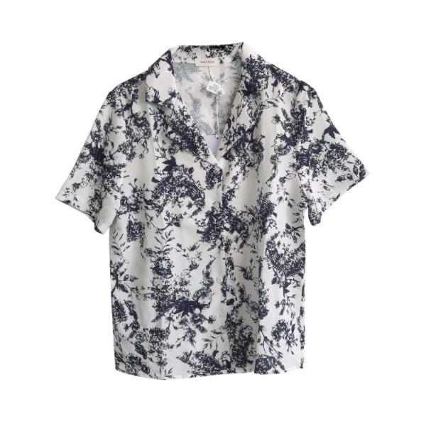 Botanical  design shirt(ボタニカルデザインシャツ)b-228