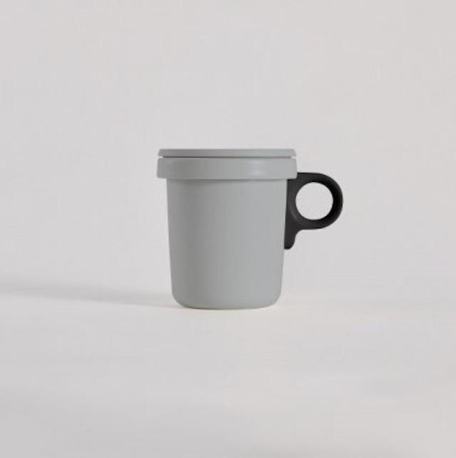 ovject (オブジェクト) ほうろうフックマグ 360ml グレー/ブラック (琺瑯)