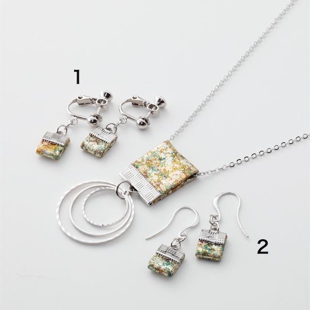 金彩ネックレス・ピアス(イヤリング) /シルバー  Neckless&Earrings Silver
