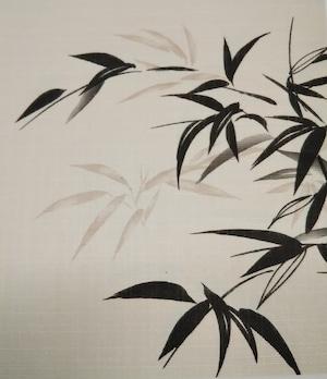 はるか866(1枚柄) 爽風 織物ふすま紙 203cm×97cm 1枚 シックな竹柄
