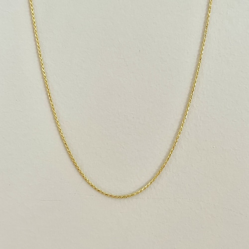 【14K-3-36】16inch 14K real gold chain necklace