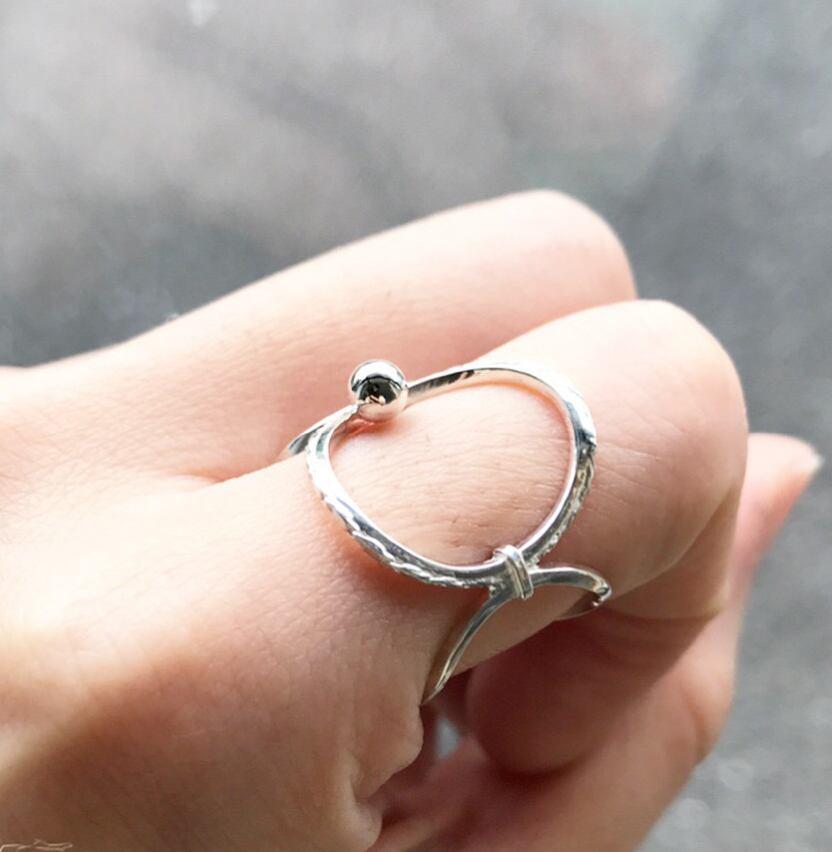 hoophoop.hoop_Silver Ring(ロジウムコーティング)