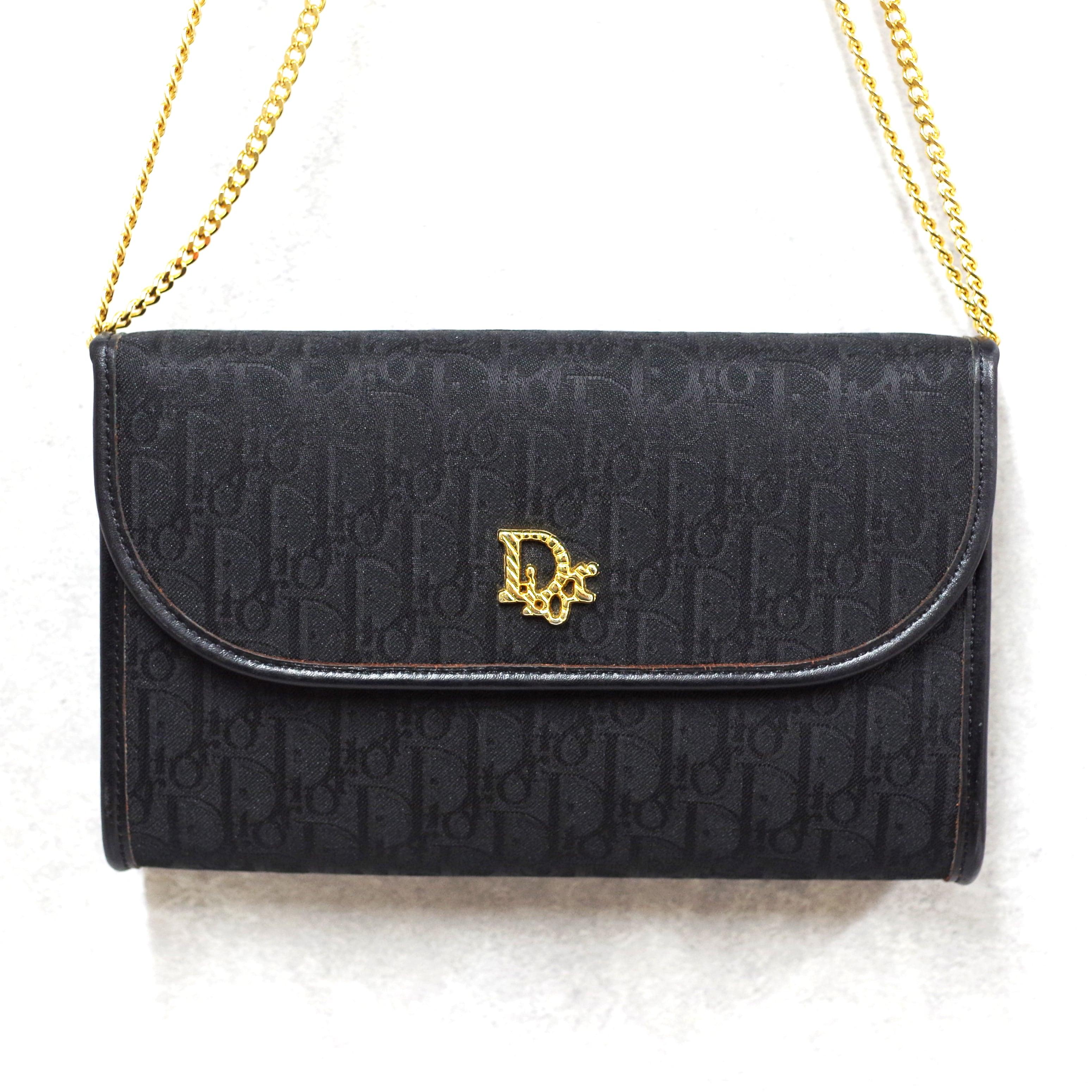 Christian Dior ディオール チェーンショルダーバッグ ブラック