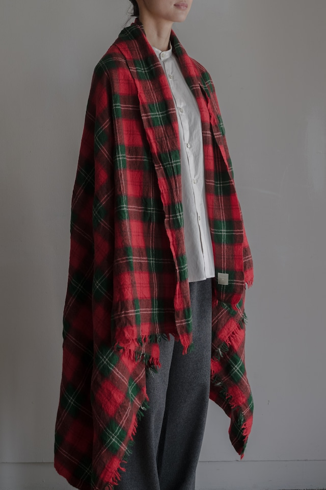 01641-1 tartancheck stole / red,green
