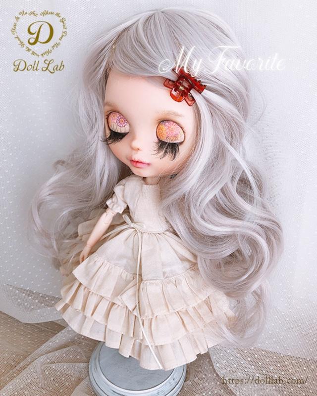 DWL014-A137-10in アリスシフォン[10inch]ペールシルバー 髪なしブライス ドール ウィッグ