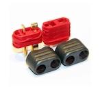 AMASS製 Tプラグ オスメス1セット 配線カバー付 バッテリー&アンプの接続コネクター