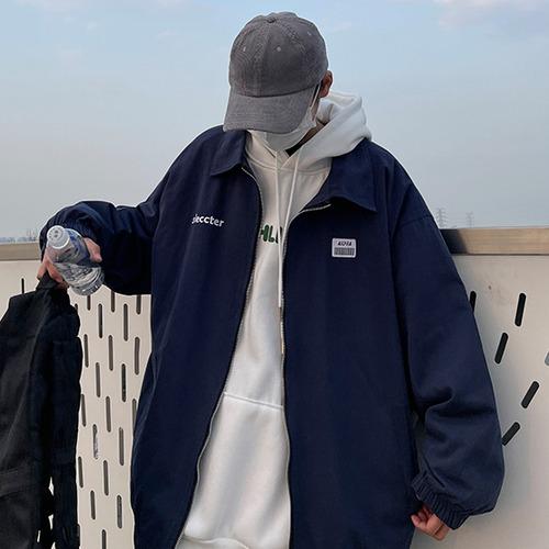 ジップアップロゴワークジャケット BL8147