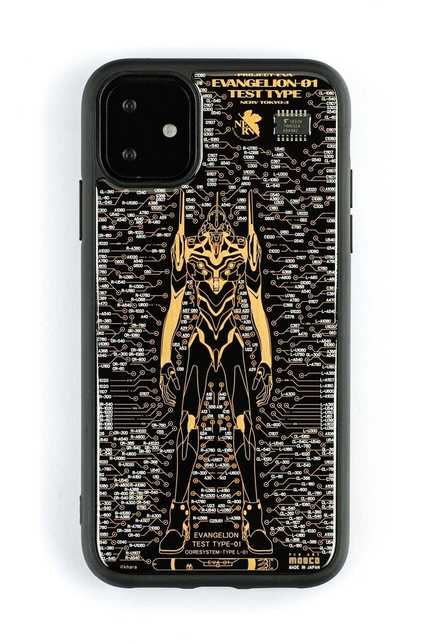 FLASH EVA01 基板アート iPhone 11 ケース 黒【東京回路線図A5クリアファイルをプレゼント】