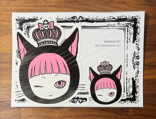 KERAコラボ 黒猫 ダイカットステッカーセット  MIKAZUKI / ミカヅキ