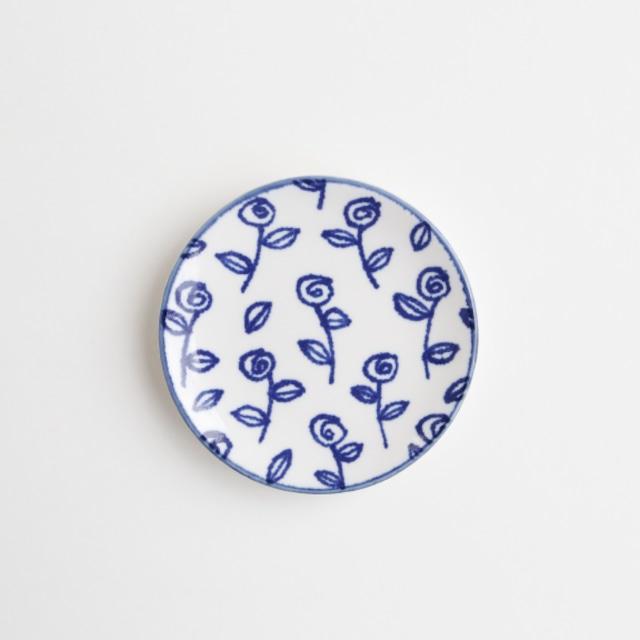 豆皿(瀬戸焼)/ バラ【Marianne Hallberg(マリアンヌ・ハルバーグ)】 北欧ブランド 日本製