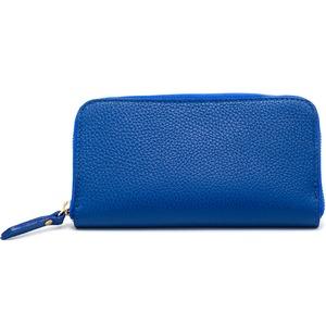 イタリア製 本革 長財布 財布 ブルー