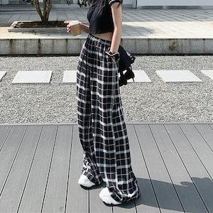 【ボトムス】ストリート系チェック柄ファッションカジュアルパンツ52714740