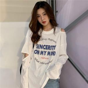 【トップス】アルファベットプリント合わせやすい韓国系Tシャツ42897090
