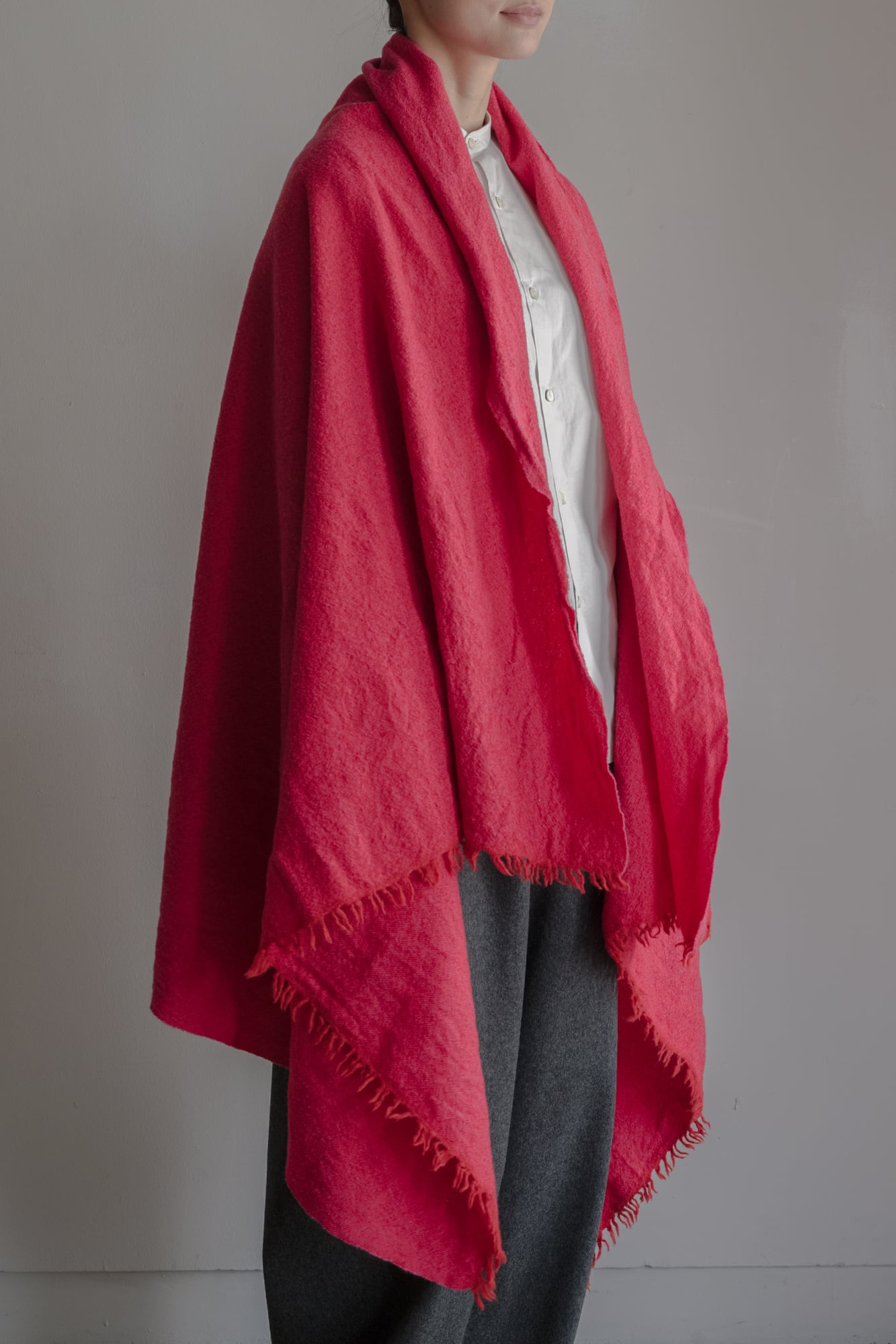 01601-4 chambray stole / red,pink