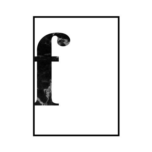 """""""f"""" 黒大理石 - Black marble - ALPHAシリーズ [SD-000533] A4サイズ ポスター単品"""