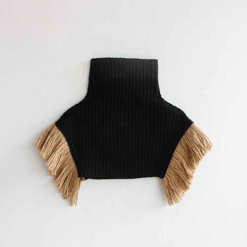 《eLfinFolk 2021AW》Rib knit cape / black / S・M