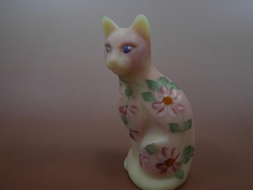 FENTON Glass フェントン ウランガラスの猫 1