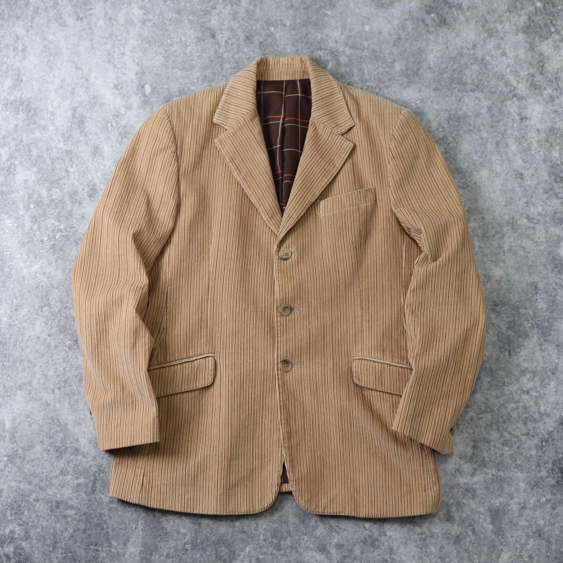 """"""" DOLCE & GABBANA """"   Corduroy  Tailored  Jacket   ドルチェ&ガッバーナ コーデュロイ テーラードジャケット イタリア製 古着 A666"""