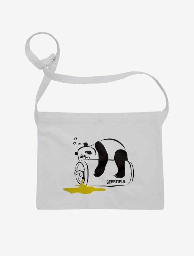 【ほろ酔いパンダ】サコッシュ(ライトグレー)
