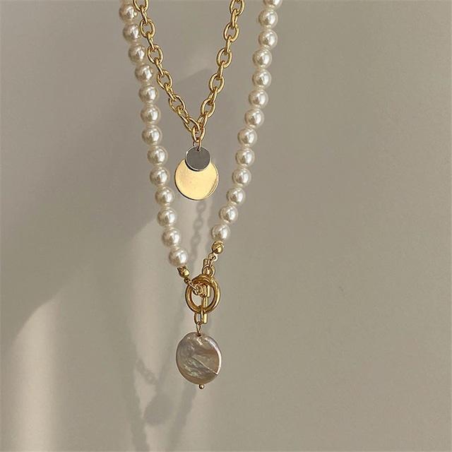 pearl chain pendant set