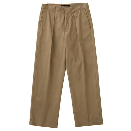 【WOMEN'S】CTTN CHINO TUCK PANTS / コットンチノタックパンツ(BEG)
