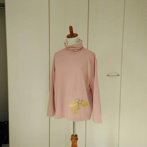 タートルネックTシャツ(2枚重ね)