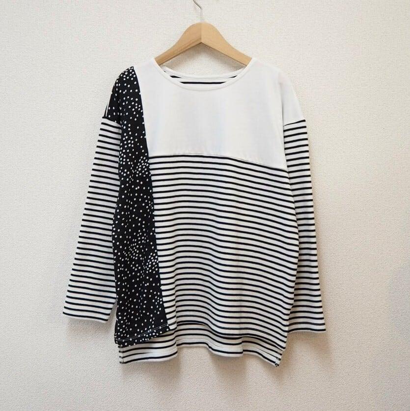 [restock] dot×stripe T-shirt