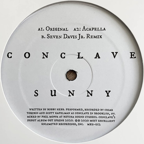 """【12""""】Conclave - Sunny"""