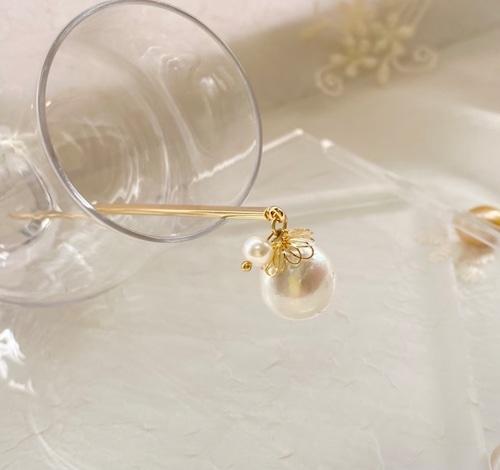 〈白蝶真珠とベビーパールの簪〉新品 オリジナル 本真珠
