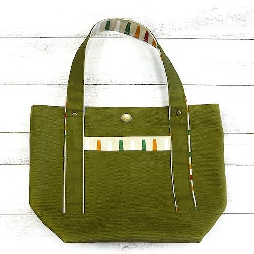 【ちょこまみぃ】3ポケット付きランチトート/バッグ