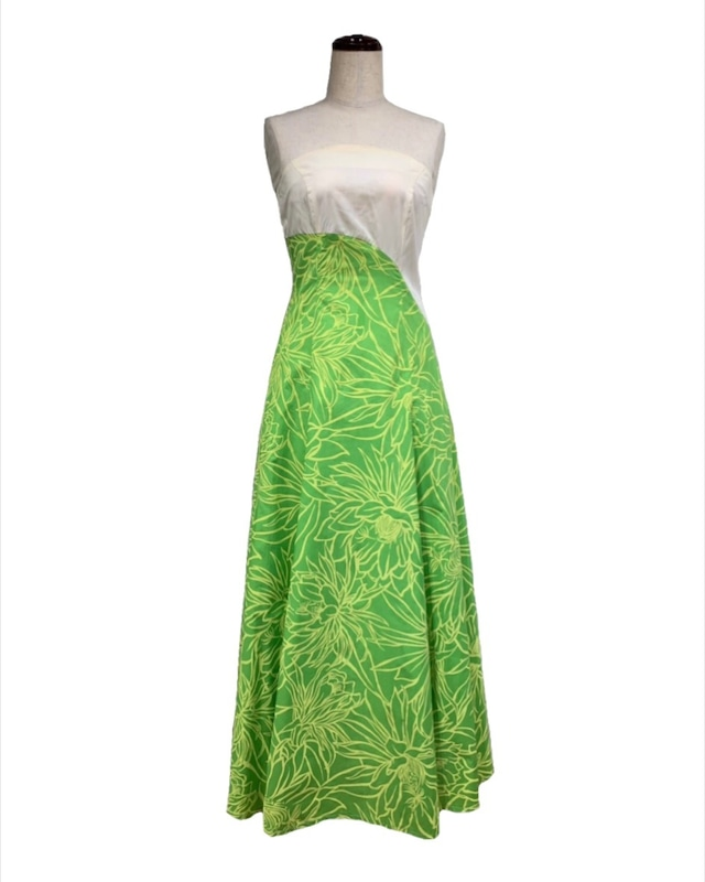 241028/ドレス/ハワイアンプリント/黄緑