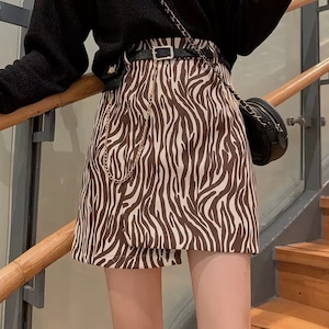 zebra skirt 2color