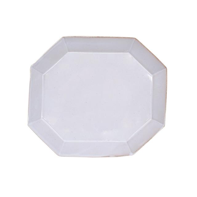 笠間焼 向山窯 ベリル プレート 皿 M 約19×17cm グレー 255787
