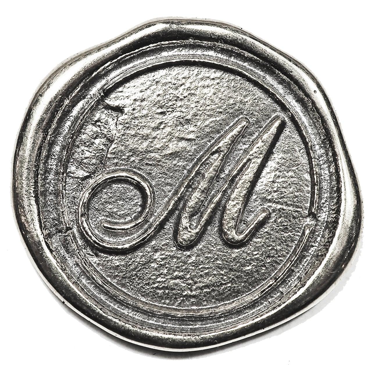 シーリングイニシャル LL 〈M〉 シルバー / コンチョボタン