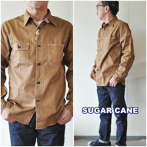 SUGARCANE シュガーケーン ウォバッシュワークシャツ 28516 メンズ ウォバッシュストライプ柄シャツ