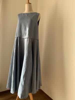 ヘリンボーン織サーキュラードレス