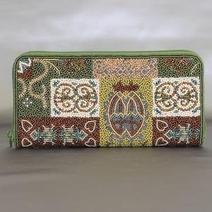ビーズ刺繡 長財布 (#145 2005)
