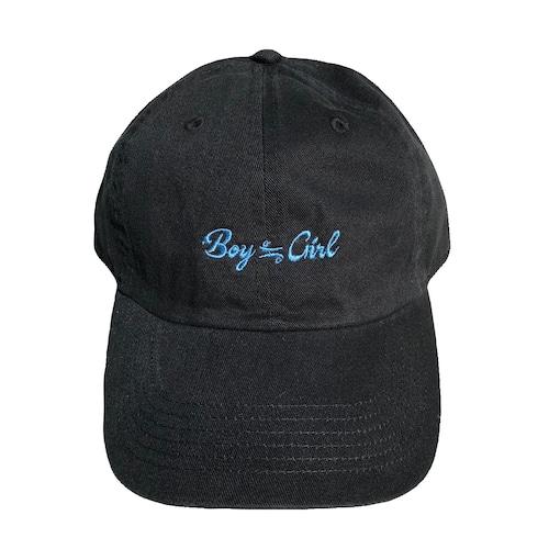 Basic Logo Cap(black×blue)