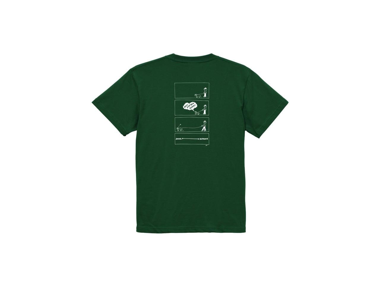 SHI x coguchi dog SD T-shirts (GR/WH)