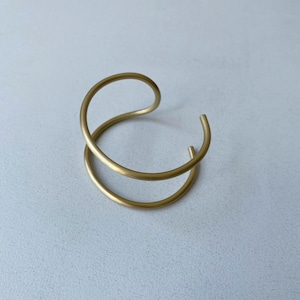 【_Fot】round wire bangle_double/1101a_d